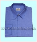 CM D/138 Camicia clergy ML F/File cot. 100% Celeste