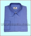 Camicia clergy ML F/File cot. 100% Celeste